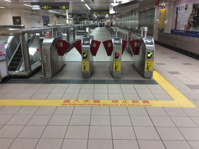 台北MRT駅構内