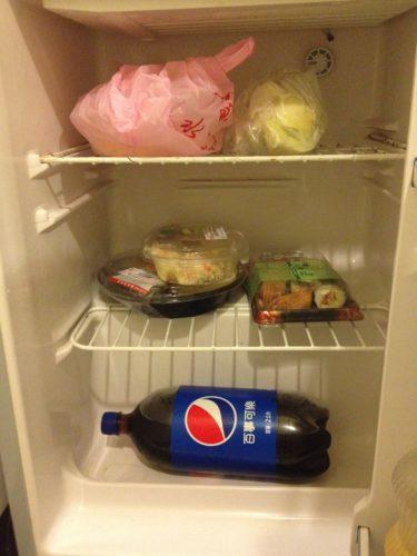 台北ワンルームの冷蔵庫
